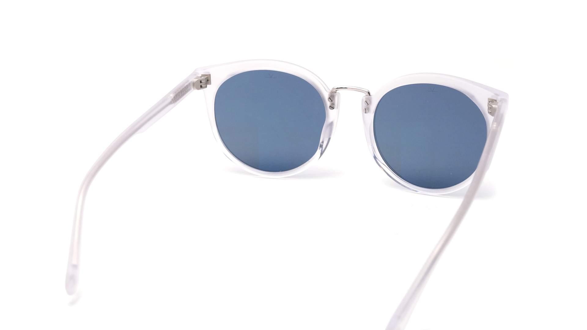 cd0f851c4827 Sunglasses Vuarnet Cable Car Cat eye Clear Matte Blue polar VL1626 0005  52-11 Small Polarized