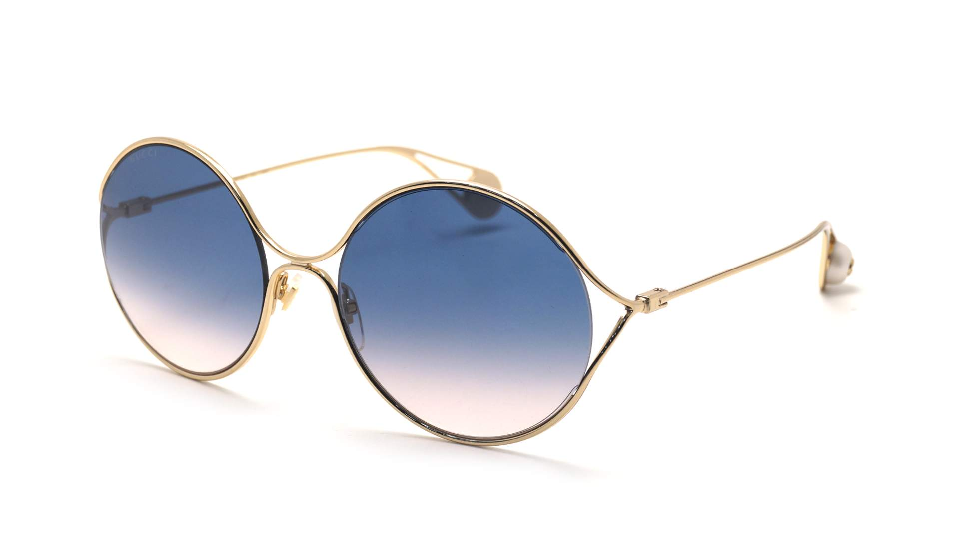 b0ce26b982c Sunglasses Gucci GG0253S 003 58-20 Gold Medium Gradient