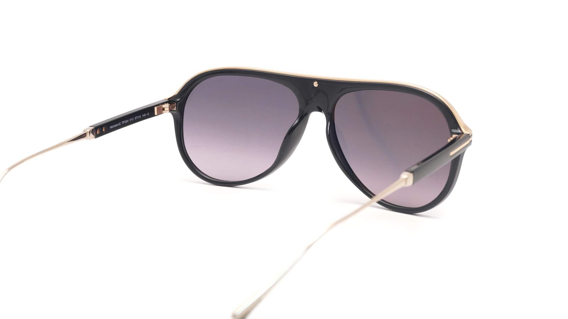 9b3f31560410 Sunglasses Tom Ford Nicholai-02 Black FT0624S 01C 57-14 Medium Gradient