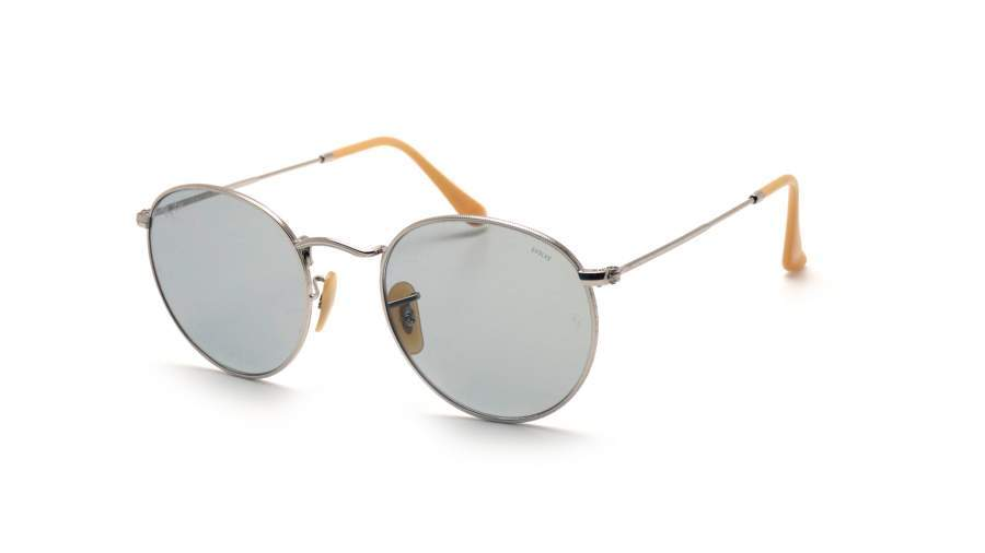 Sunglasses Ray-Ban Round Silver Evolve RB3447 9065 L5 53-21 Medium  Photochromic 871bb1de01