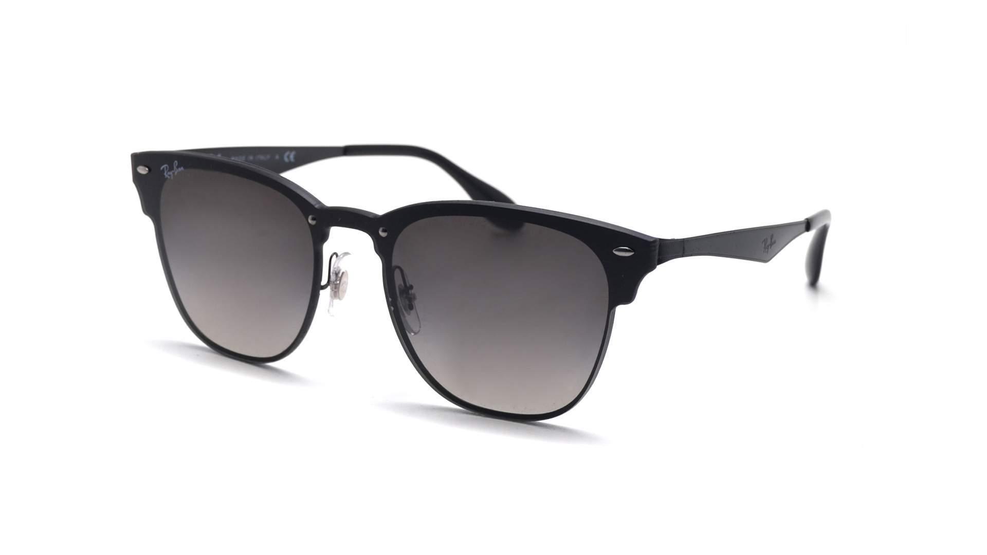 d5075b494c Sunglasses Ray-Ban Clubmaster Blaze Black RB3576N 153 11 Large Mirror