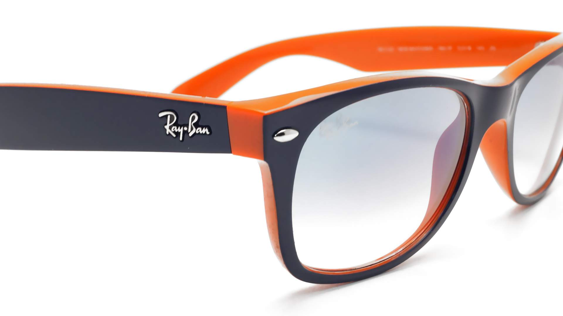Lunettes de soleil Ray-Ban New Wayfarer Orange RB2132 789 3F 55-18 Large  Dégradés 2ea204b4a860