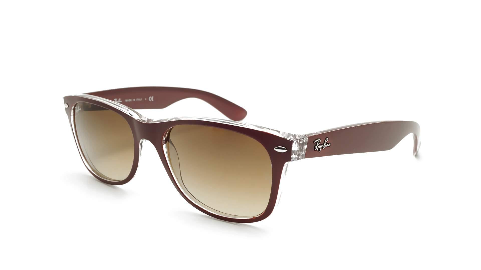 1cf418c8da Sunglasses Ray-Ban New Wayfarer Purple RB2132 6054 85 55-18 Medium Gradient
