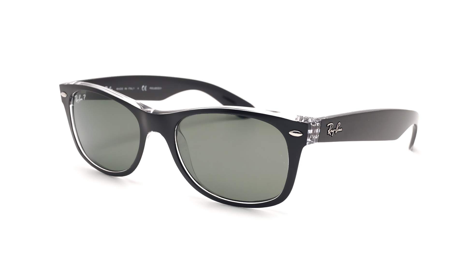 0e53bb31eda Sunglasses Ray-Ban New Wayfarer Black RB2132 6052 58 55-18 Large Polarized