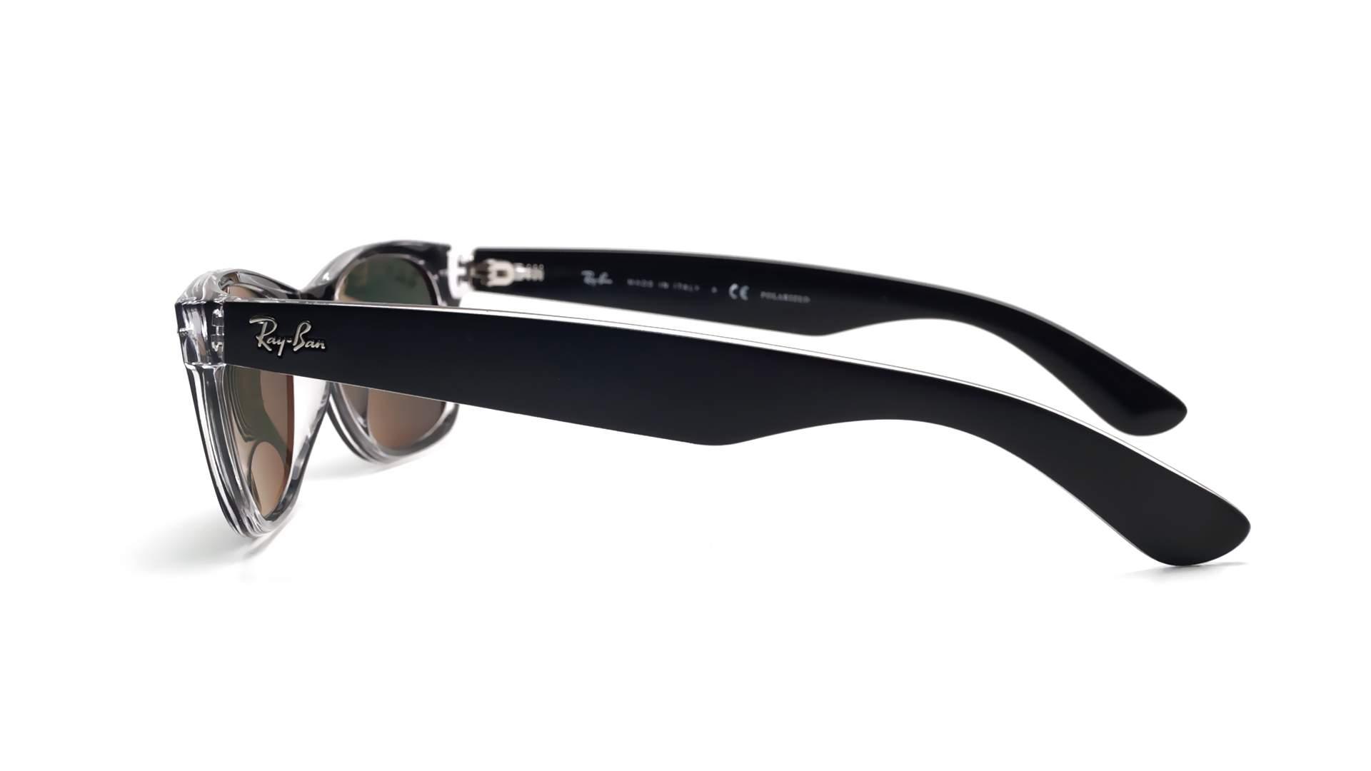 6dc0d131eb4 Sunglasses Ray-Ban New Wayfarer Black RB2132 6052 58 55-18 Large Polarized