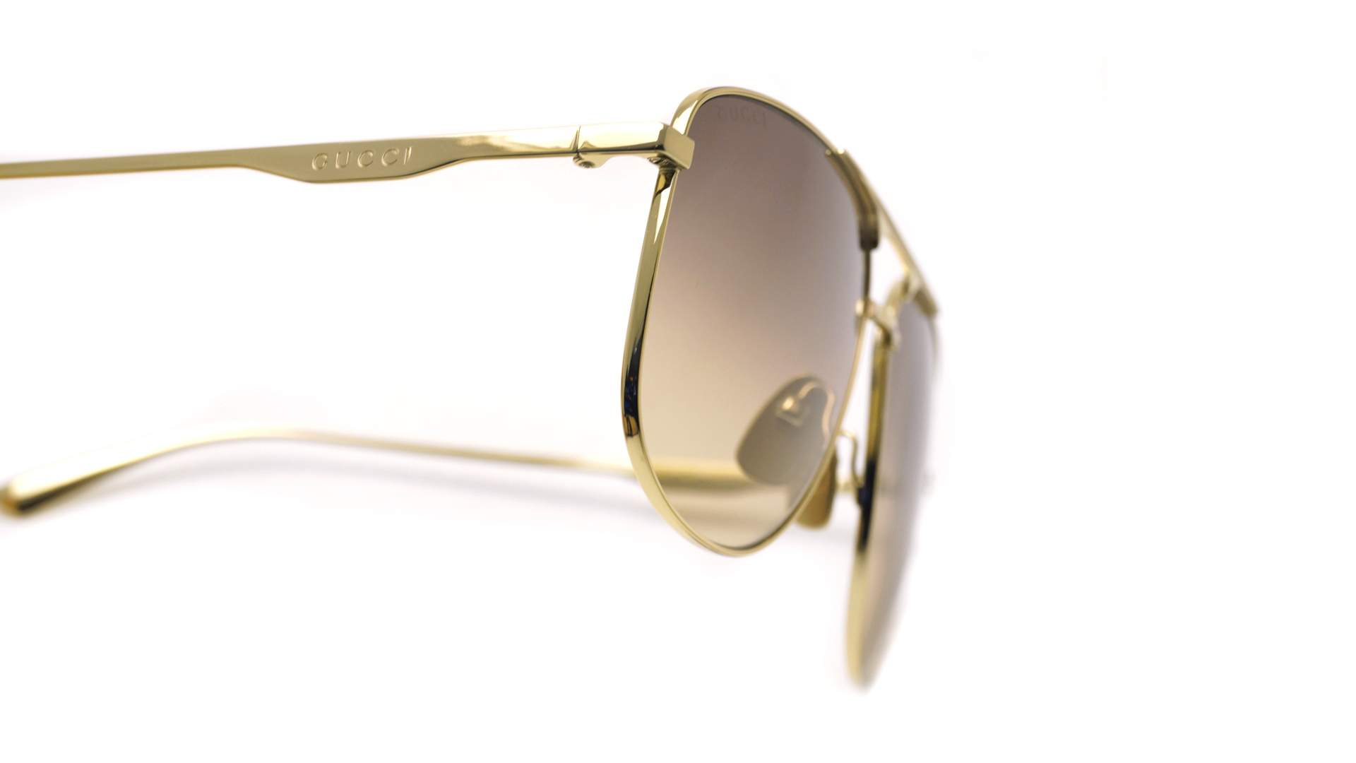 f719fe138b0 Sunglasses Gucci GG0336S 001 60-13 Gold Large Gradient