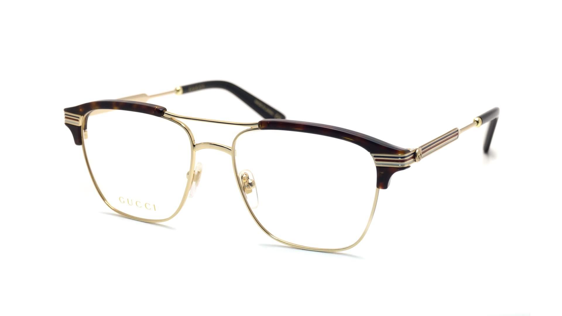 dc28be6f60 Eyeglasses Gucci GG0241O 003 54-17 Gold Medium