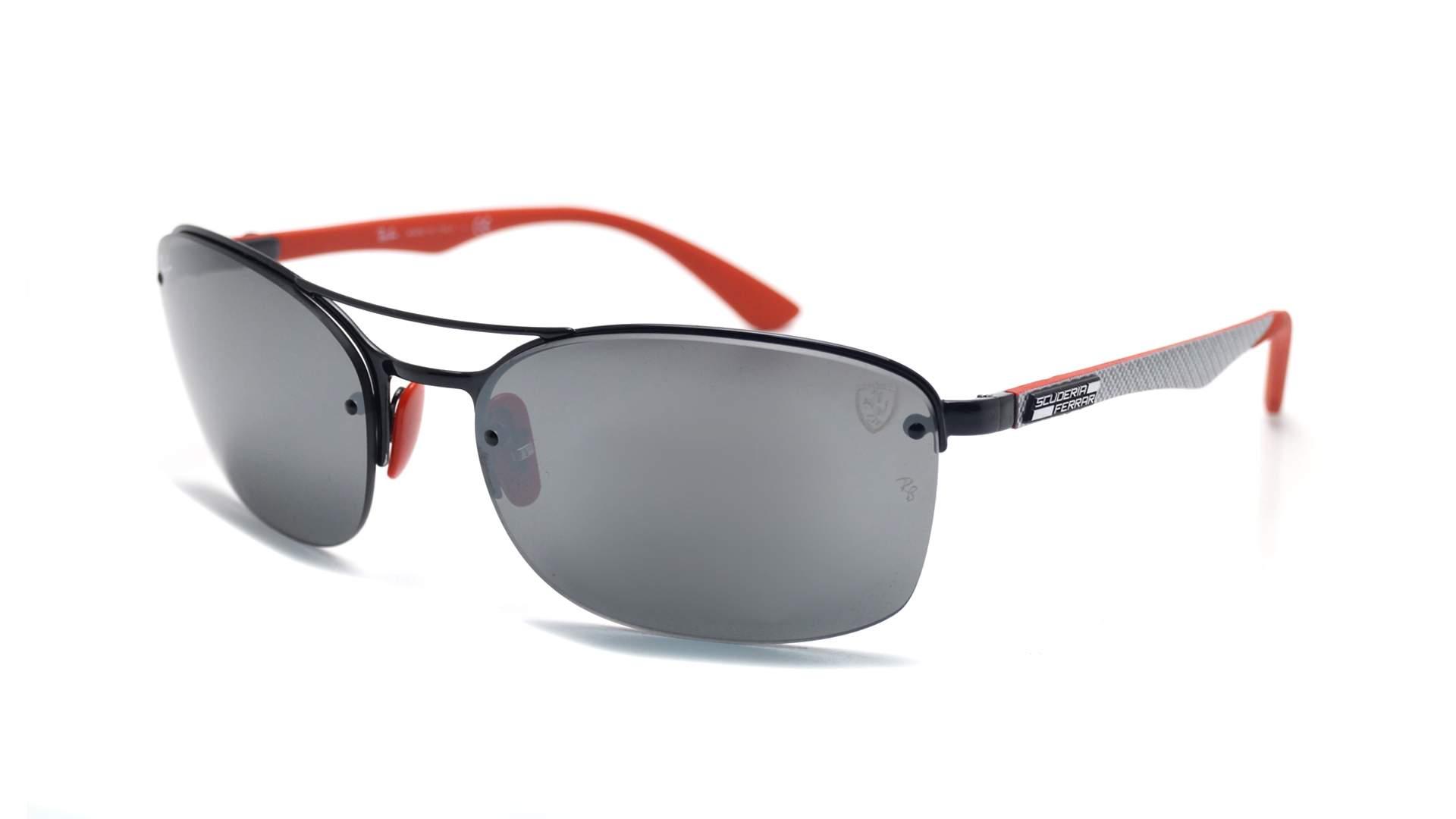 c8db1f498c Sunglasses Ray-Ban Scuderia Ferrari Fibre Carbon Black Chromance RB3617M  F0096G 62-18 Large Flash