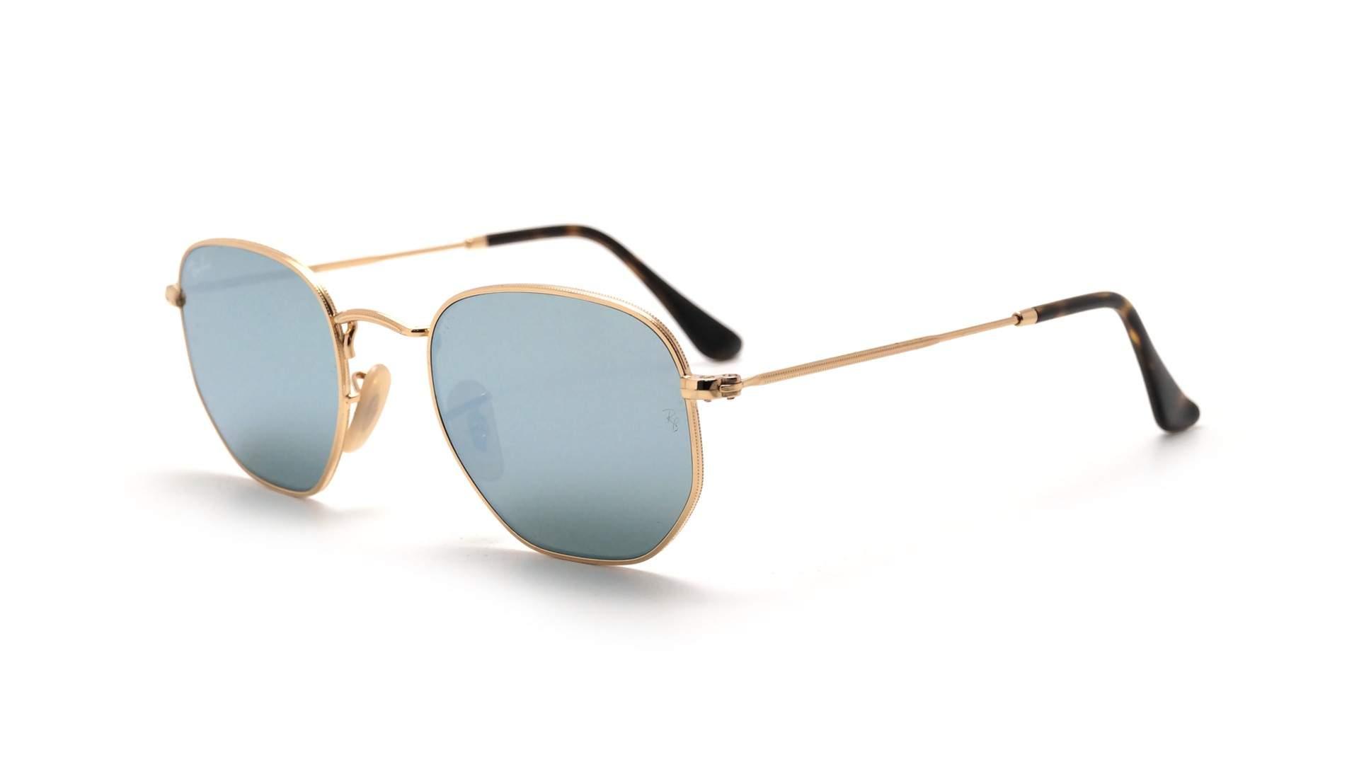 3b3086468c37b Sunglasses Ray-Ban Hexagonal Flat Lenses Gold RB3548N 001 30 51-21 Medium  Flash