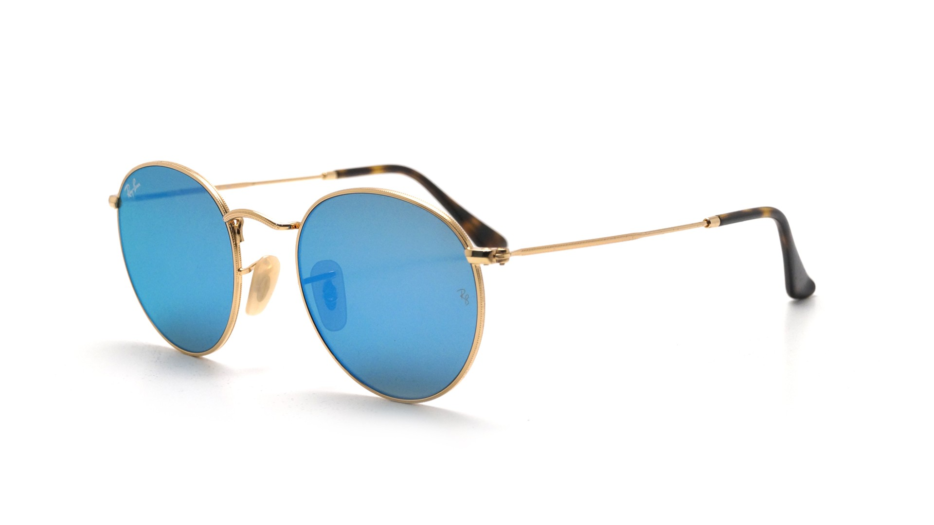 89fcc87067e43 Sunglasses Ray-Ban Round Metal Round Flat Lenses Gold RB3447N 001 9O 47-21  Small Flash