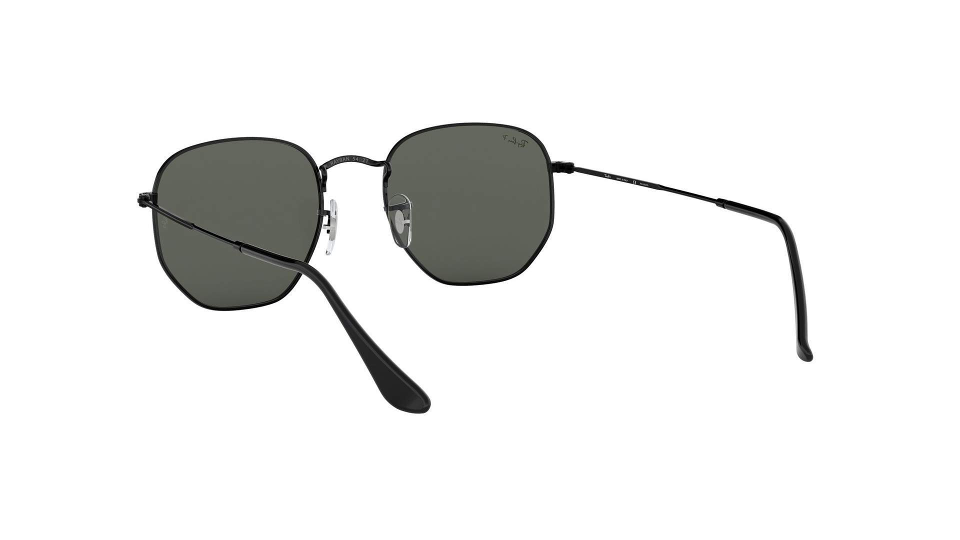 df58768ef0c9a Sunglasses Ray-Ban Hexagonal Flat Lenses Black RB3548N 002 58 54-21 Large  Polarized