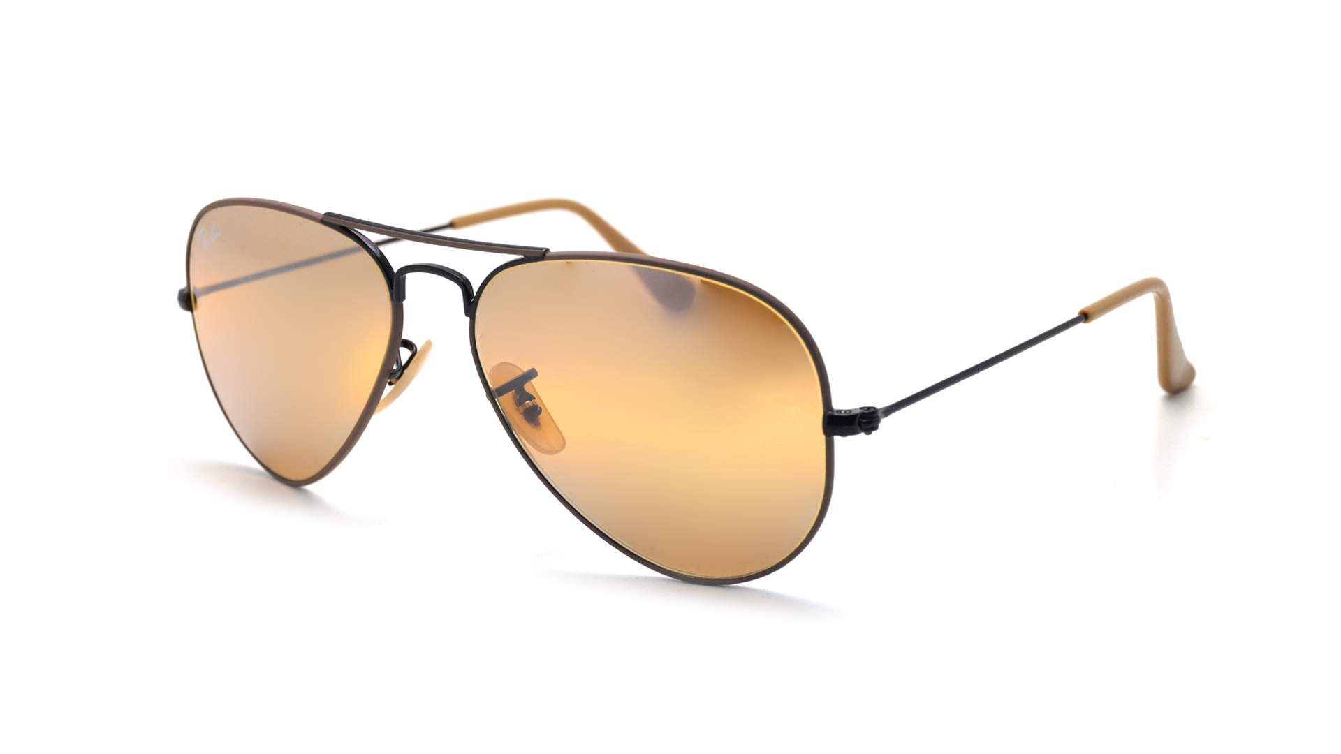 9fb5fa764 Sunglasses Ray-Ban Aviator Mirror Brown Mat RB3025 9153/AG 55-18 Small  Gradient Flash