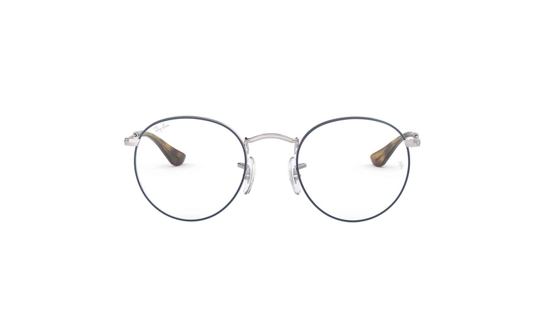 606b741c9 Eyeglasses Ray-Ban Round Metal Blue Mat RX3447V 2970 47-21 Small