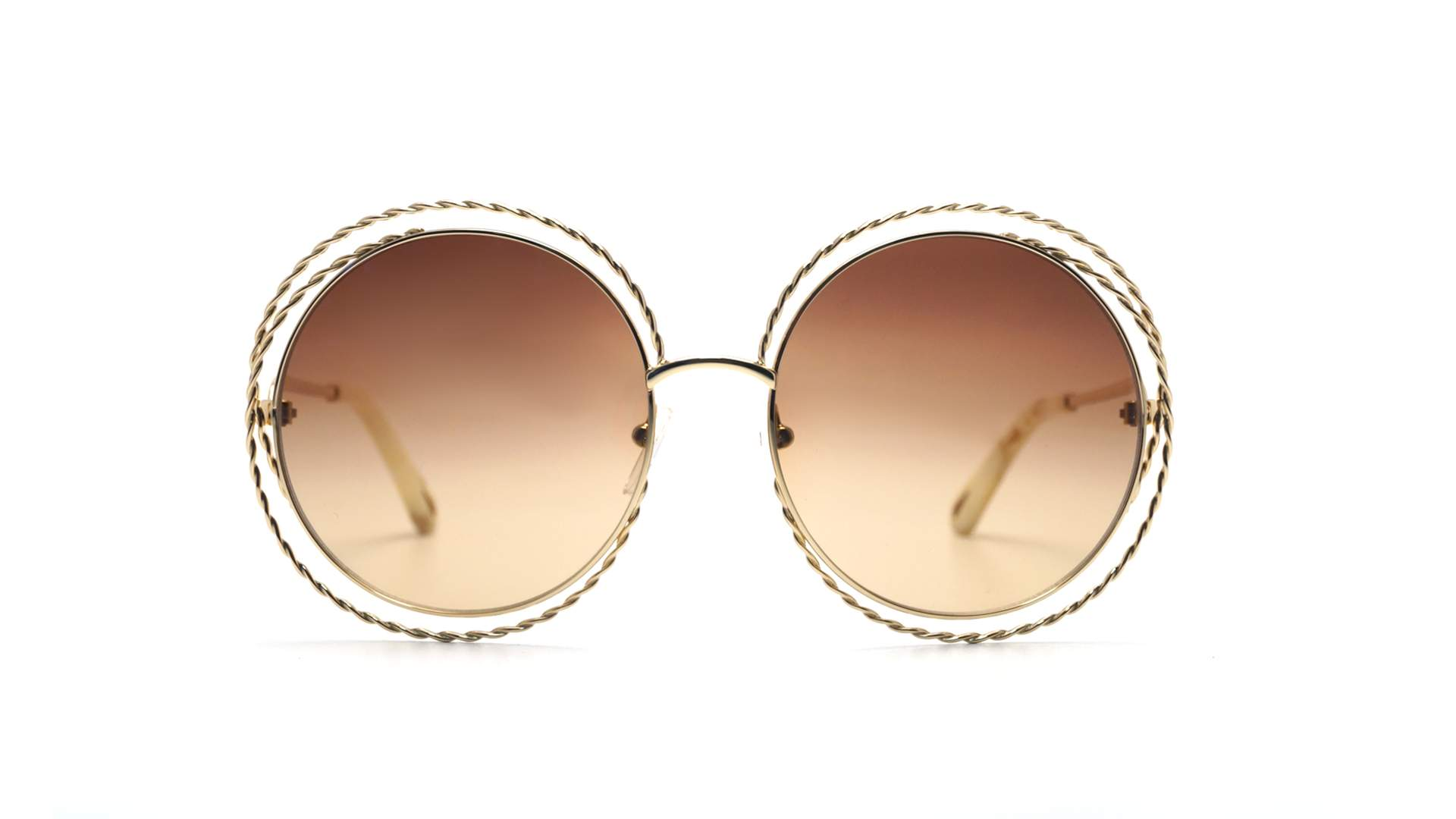 b61765af52 Sunglasses Chloé Carlina Twist Gold CE114ST 743 58-18 Medium Gradient