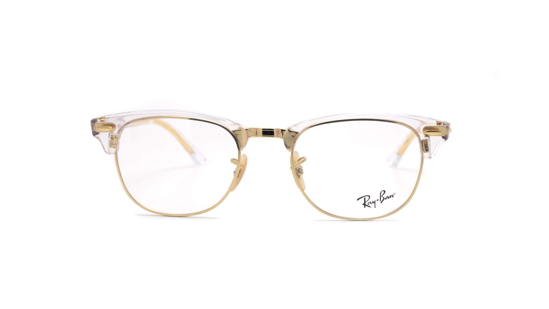34f178c3562e4 Eyeglasses Ray-Ban Clubmaster Optics Gold RX5154 5762 51-21 Large