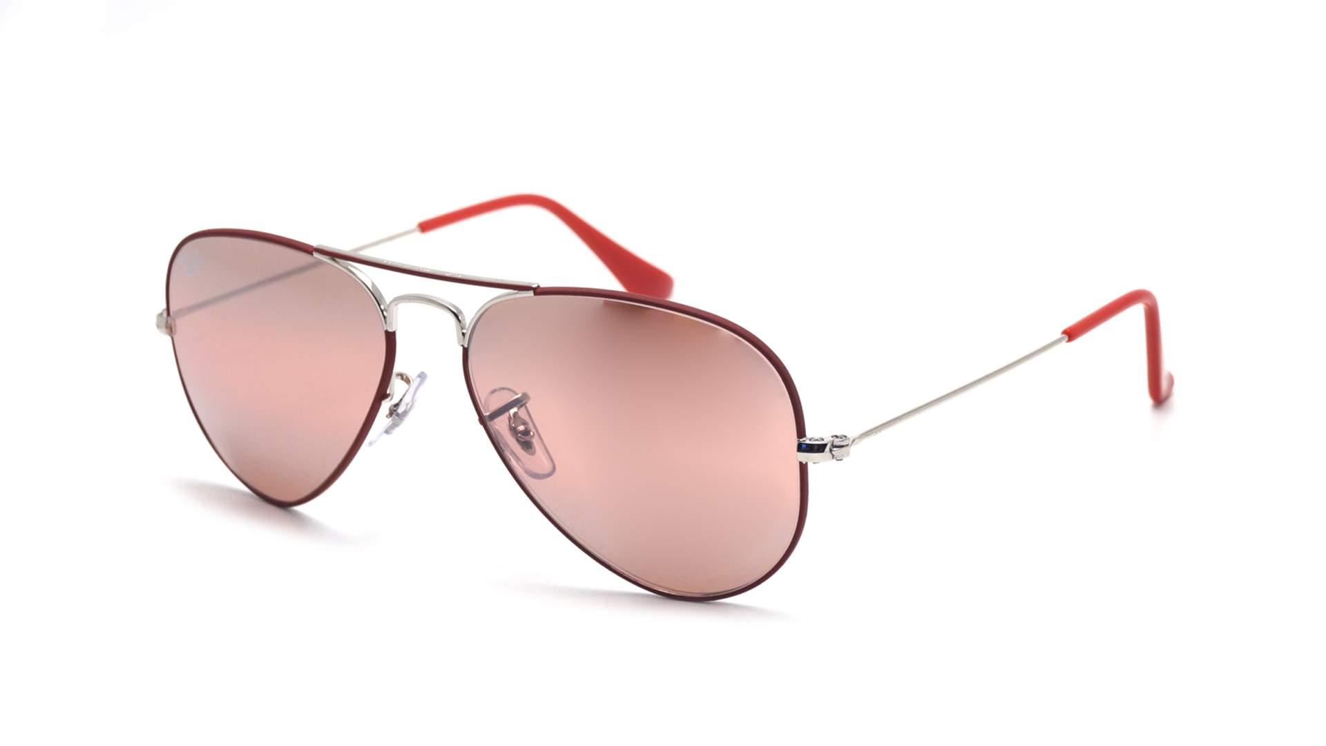 bf0f8a3e0a93f Sunglasses Ray-Ban Aviator Mirror Silver Mat RB3025 9155 AI 55-14 Small  Photochromic Gradient Flash