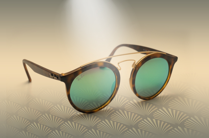 Rayban Gatsby verres miroirs sur Visiofactory.com