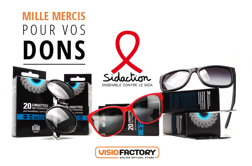 Visiofactory & The Sidaction - a huge THANKS for your donations