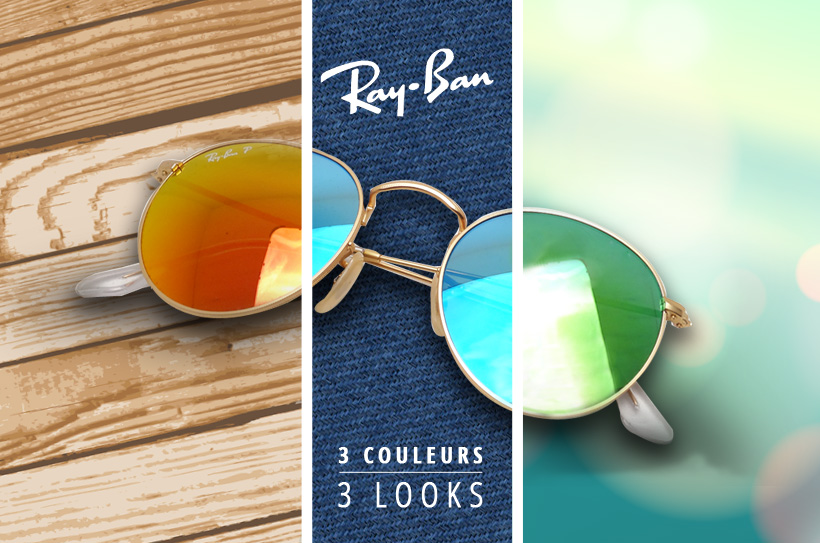 Ray-Ban Round Metal Flash lenses : 3 coloris / 3 looks