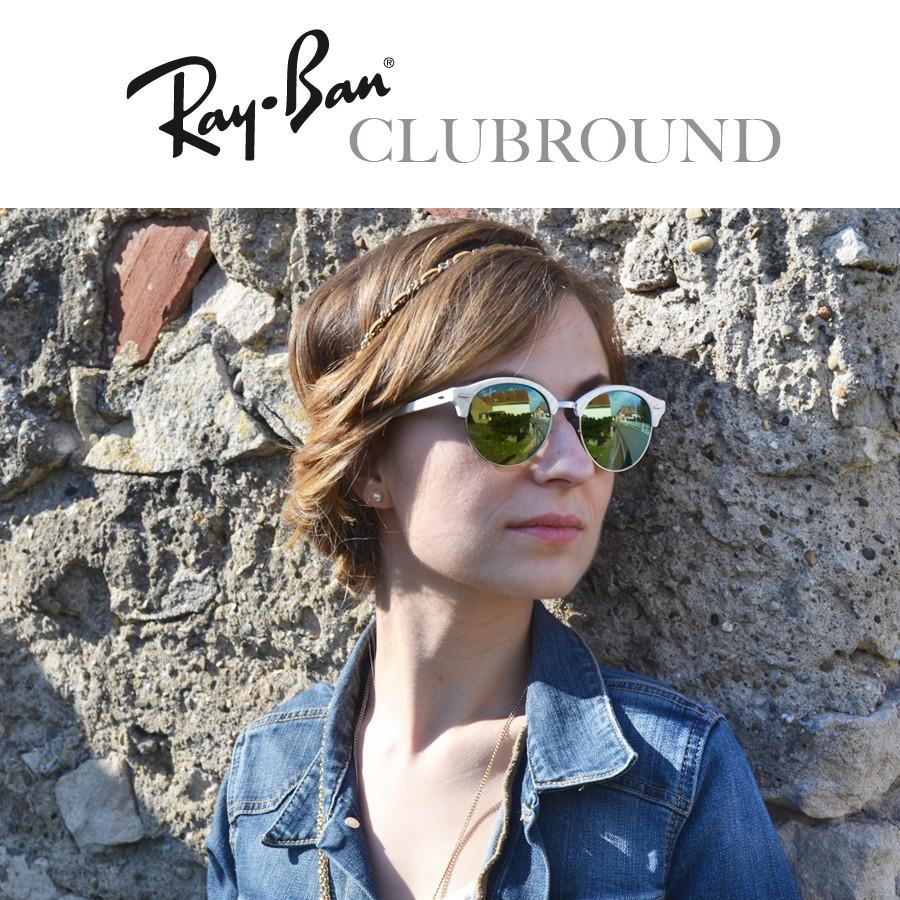 Lunettes de soleil Ray-Ban Clubround femme et homme   Visiofactory c3db4d5a8698