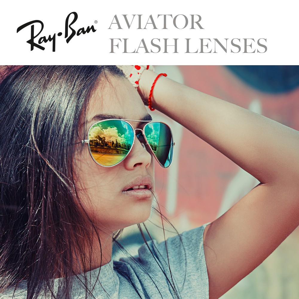 22893661e1 Sunglasses Ray-Ban Aviator Flash Lenses