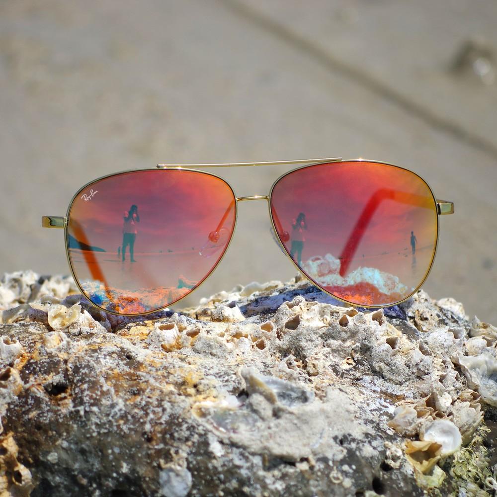 Lunettes de soleil Ray-Ban Aviator miroir Flash   Visiofactory cd08de9319d8